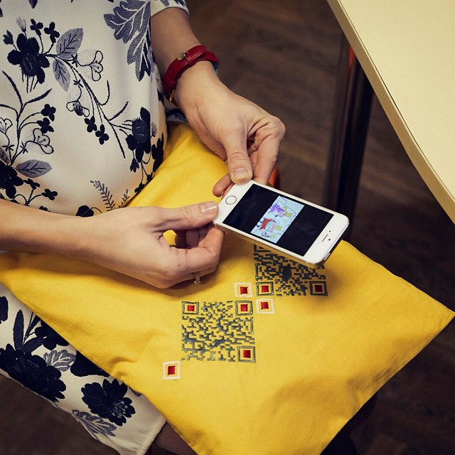 QR-coded Embroidery